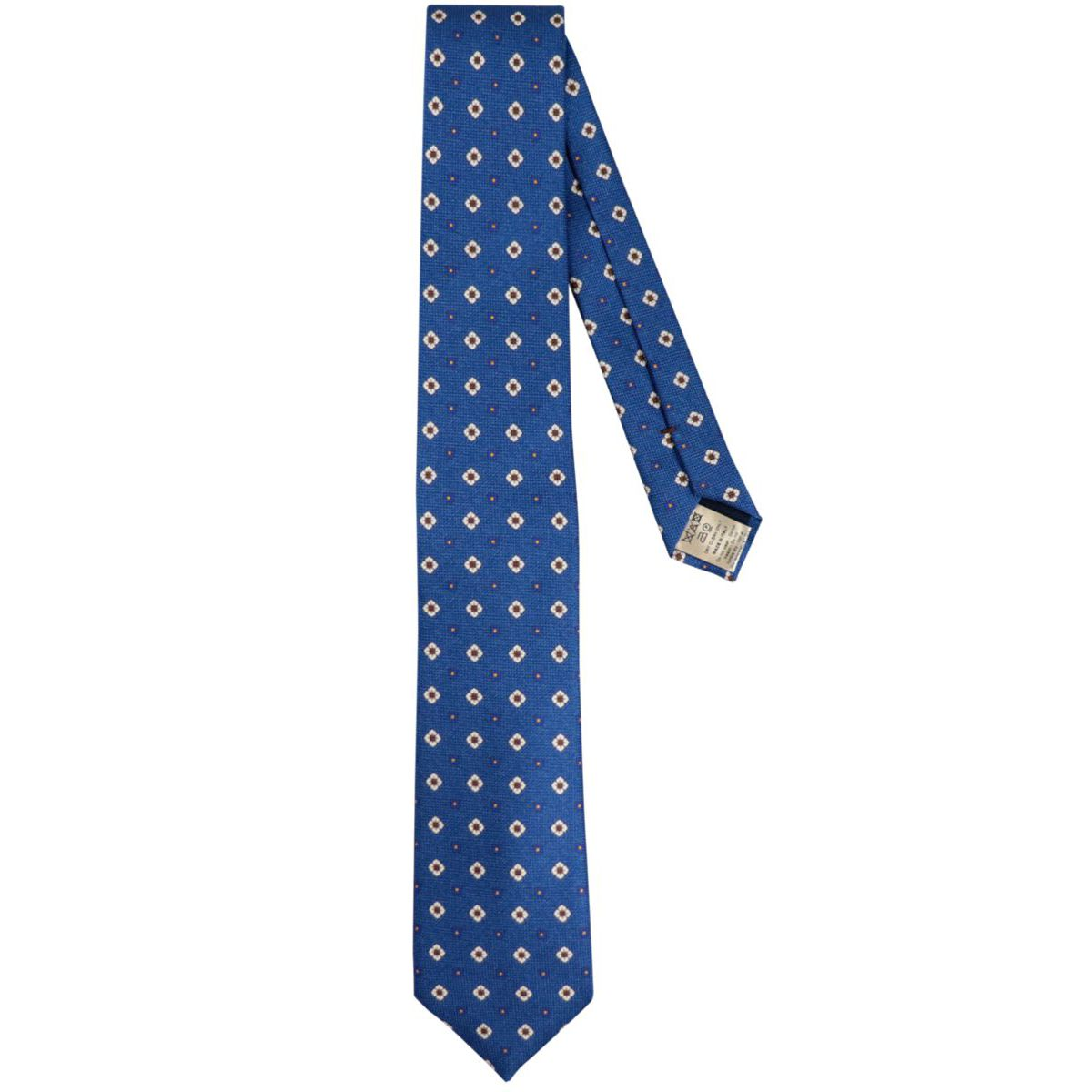 Olona patterned silk tie Blue Altea