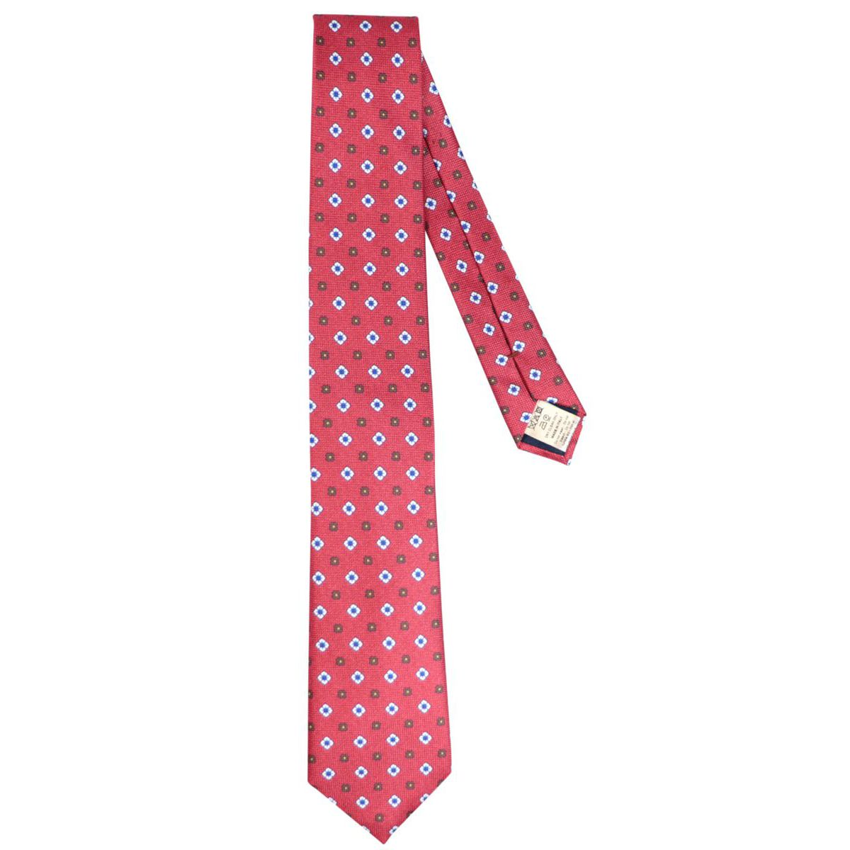 Olona patterned silk tie Red Altea