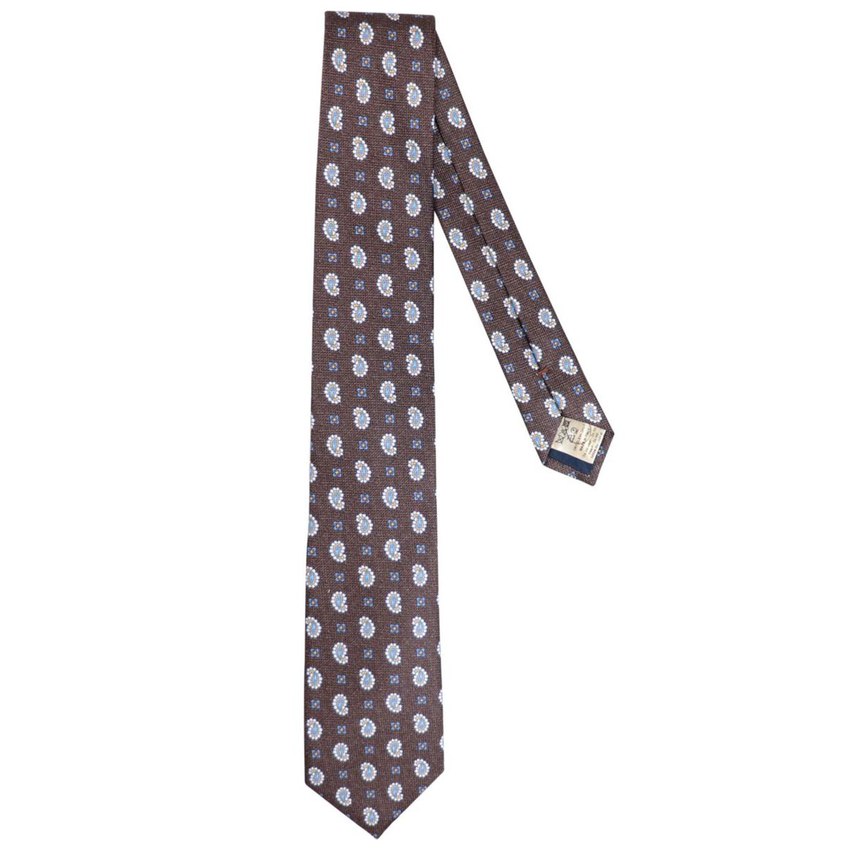 Silk tie with paisley motif Moro Altea