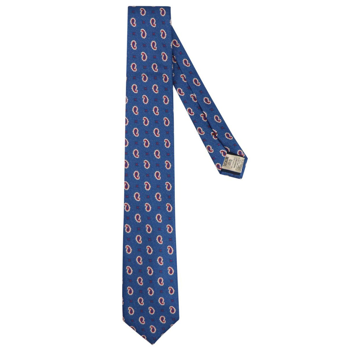 Silk tie with paisley motif Royal Altea
