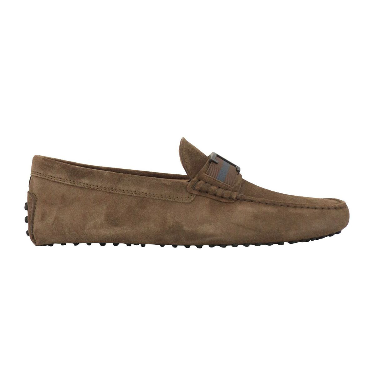 Suede moccasin with rubber sole Moro Tod's