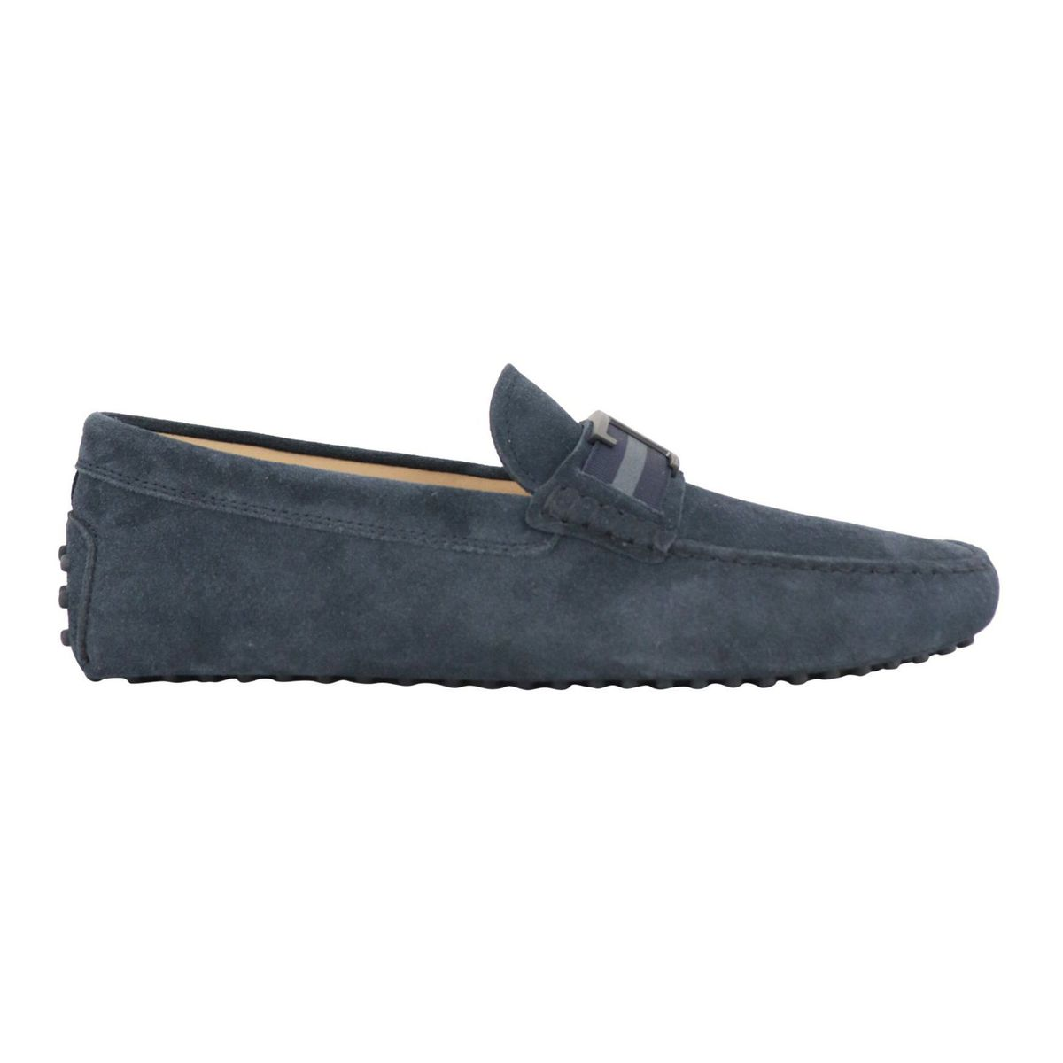 Suede moccasin with rubber sole Navy Tod's