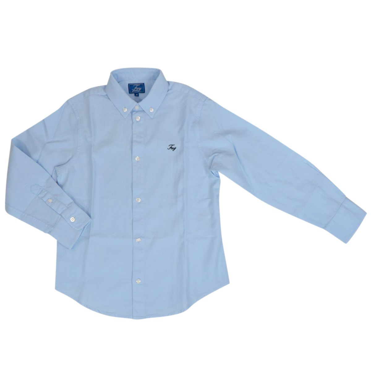 Button-down cotton shirt with embroidered logo Heavenly Fay
