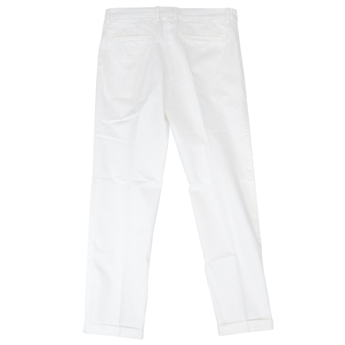 Classic cotton trousers with america pockets White Fay
