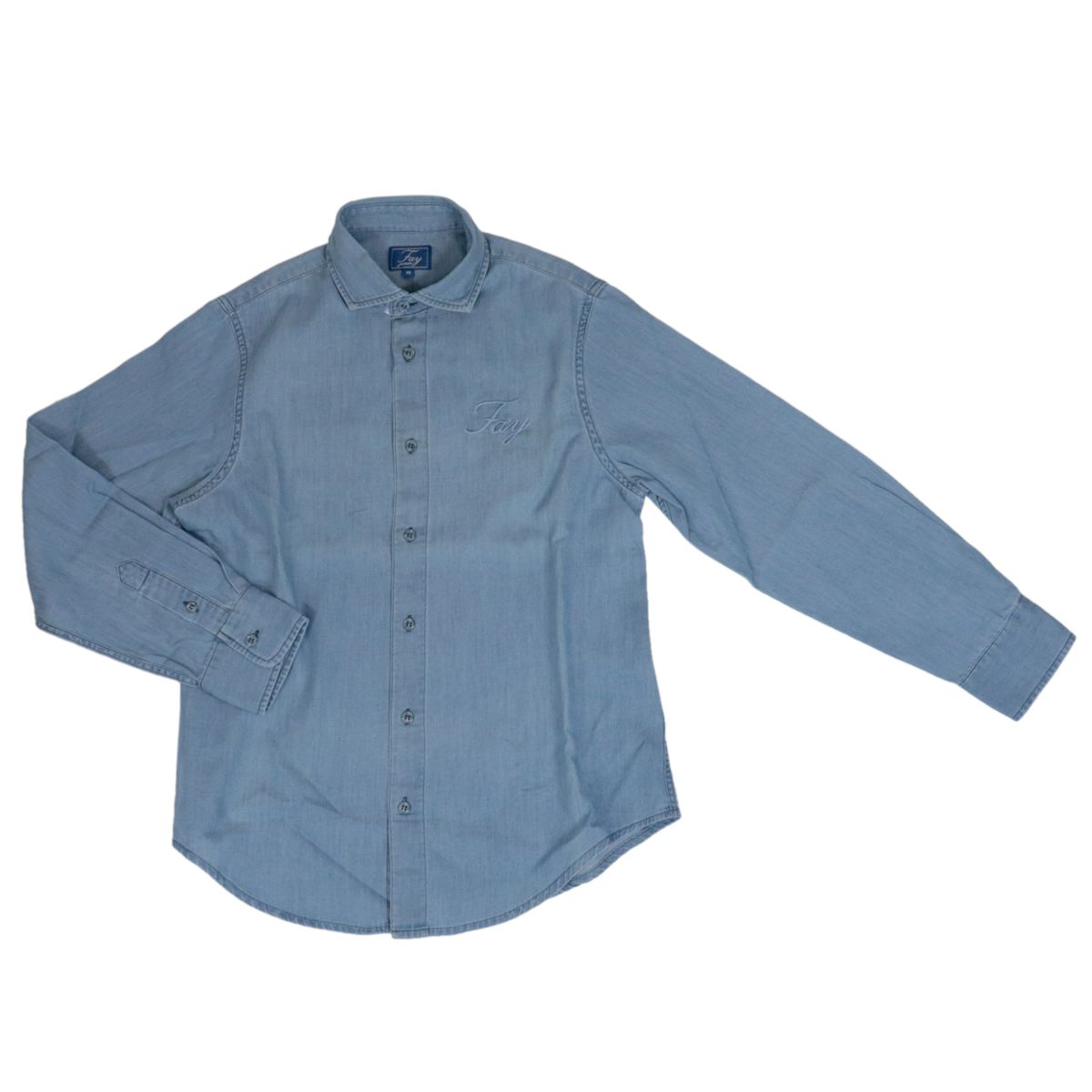 Denim shirt with embroidered logo Denim Fay