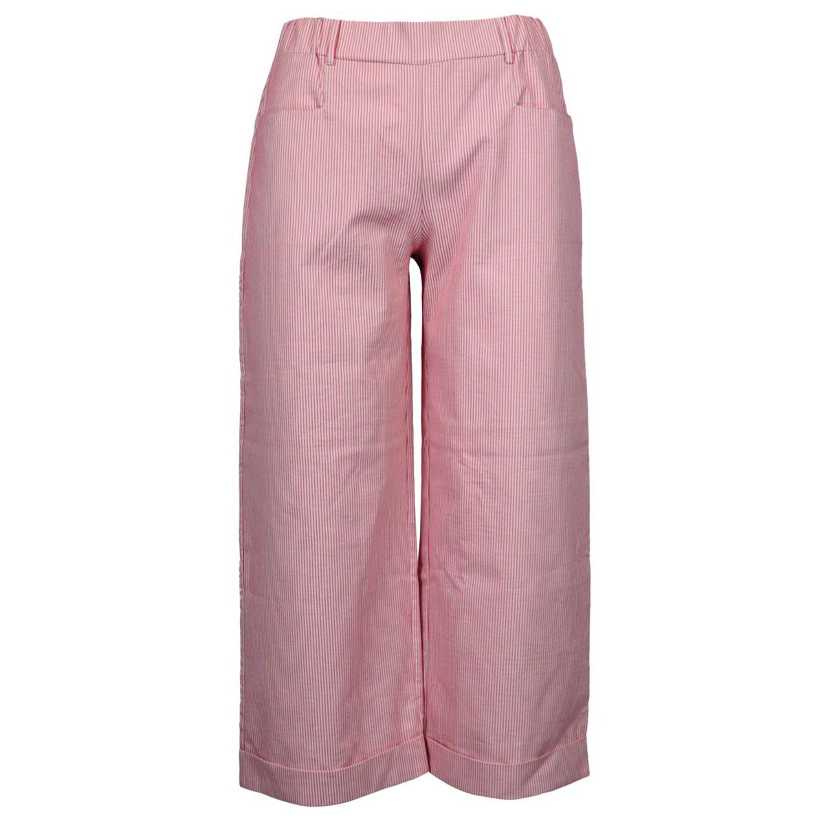 Cropped trousers in stretch cotton Pink Gran Sasso