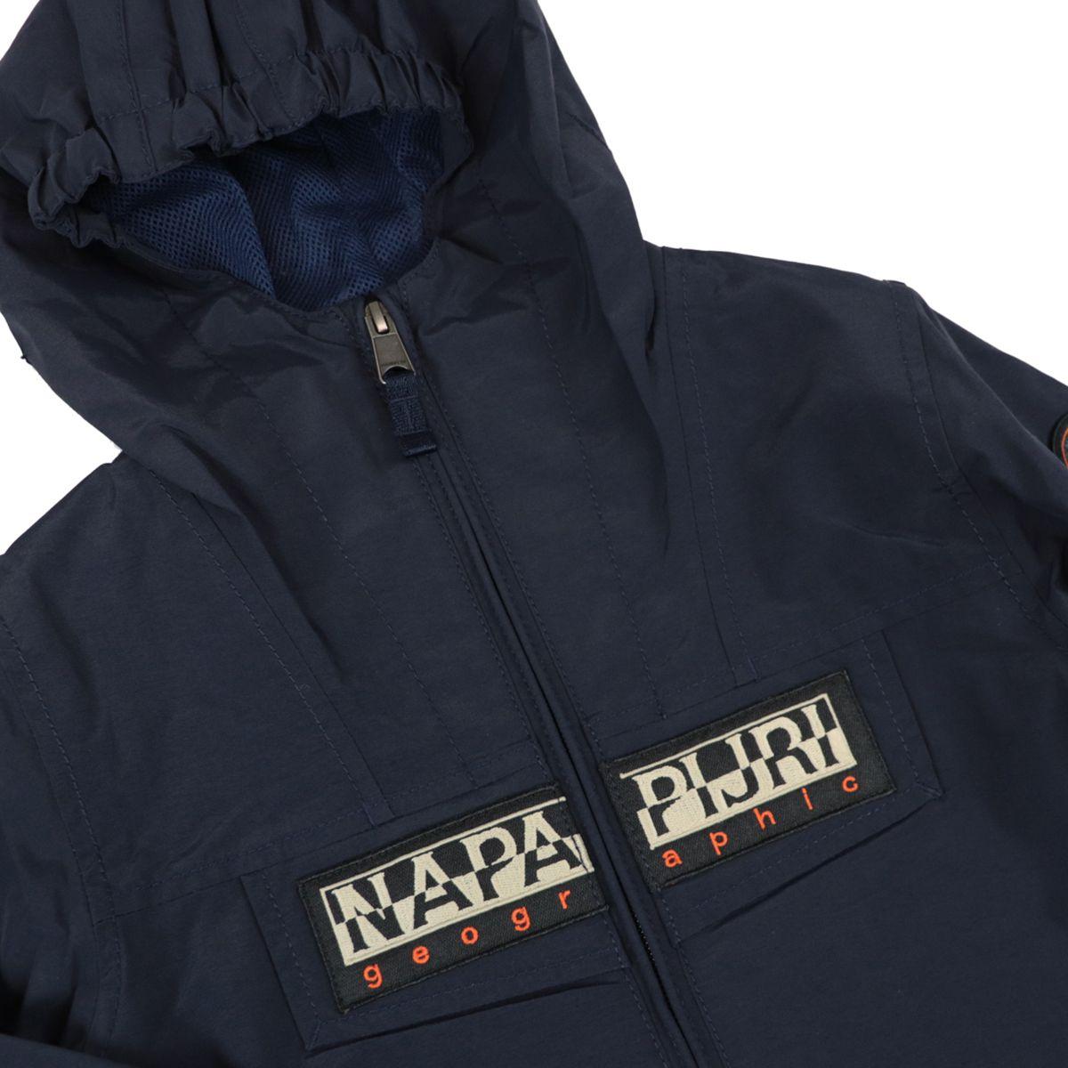 K Rainforest S OP 2 nylon jacket with hood and logo Blue NAPAPIJRI
