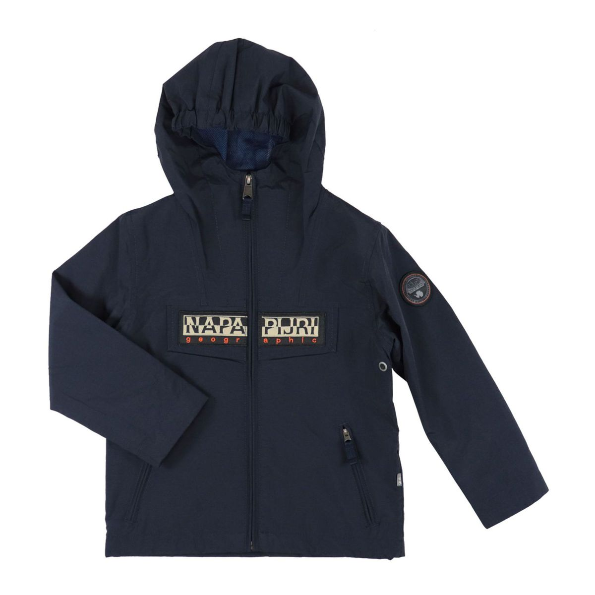 K Rainforest S OP 2 nylon jacket with hood and logo Blue NAPAPIJRI