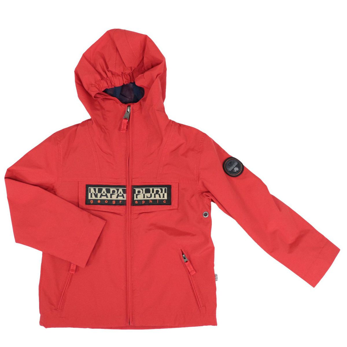 K Rainforest S OP 2 nylon jacket with hood and logo Red NAPAPIJRI