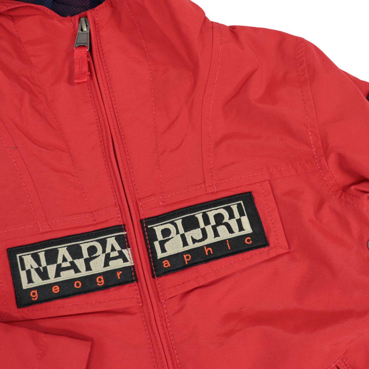 K Rainforest S OP 2 nylon jacket with hood and logo Red NAPAPIJRI