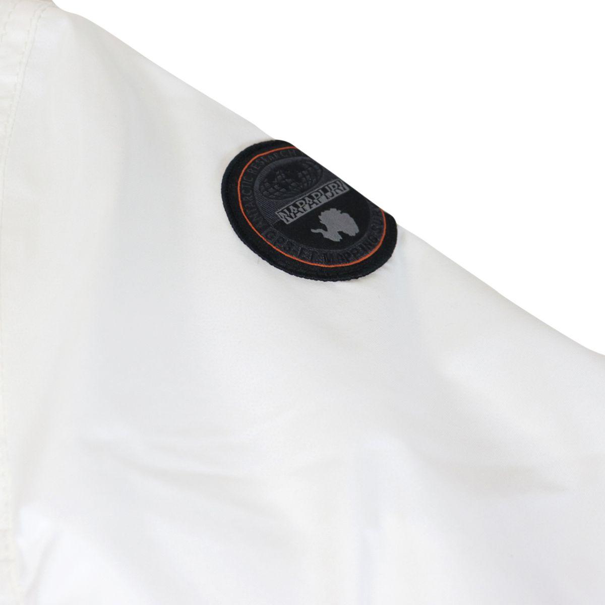 K Rainforest Sum.2 nylon jacket with hood and zip White NAPAPIJRI