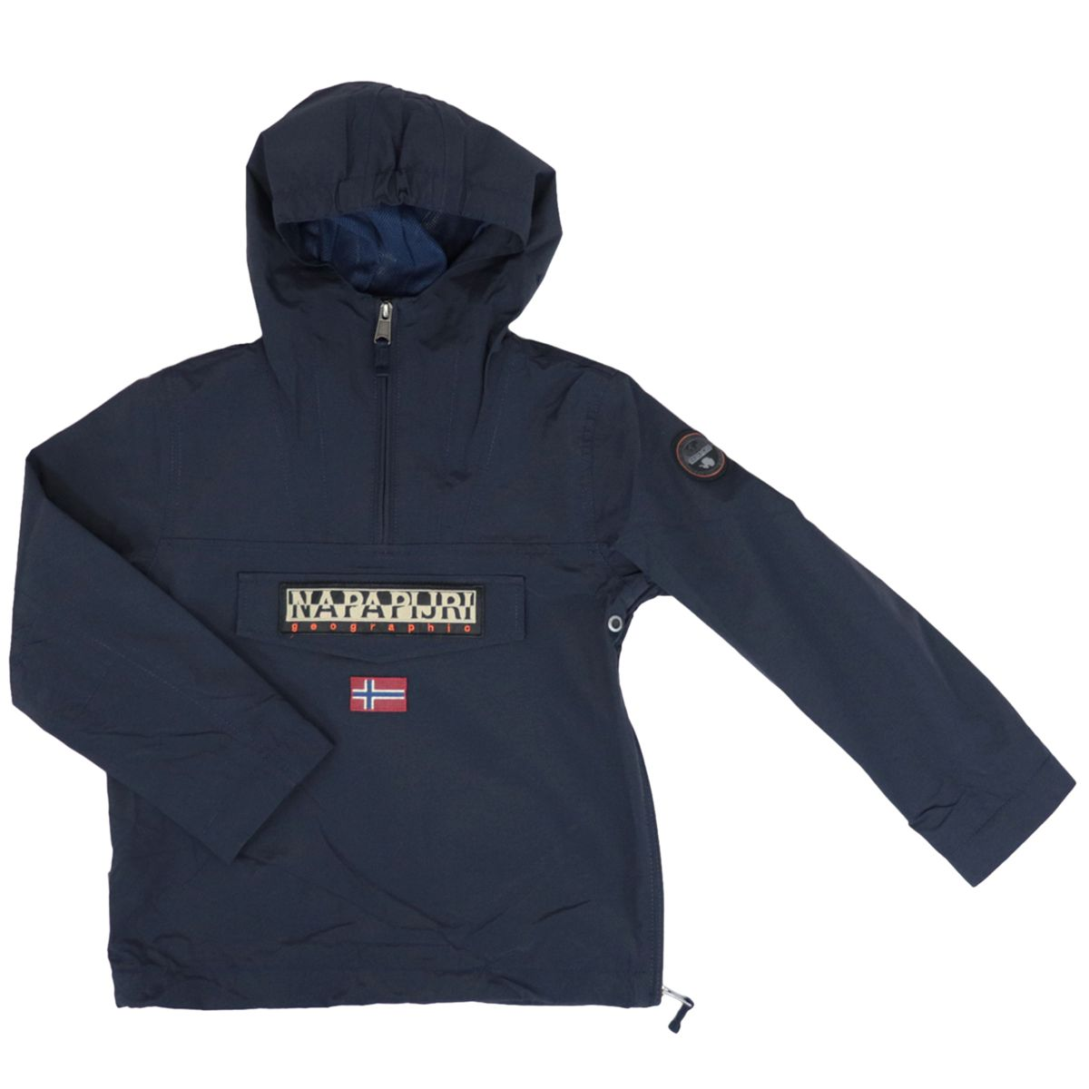 K Rainforest Sum.2 nylon jacket with hood and zip Navy NAPAPIJRI