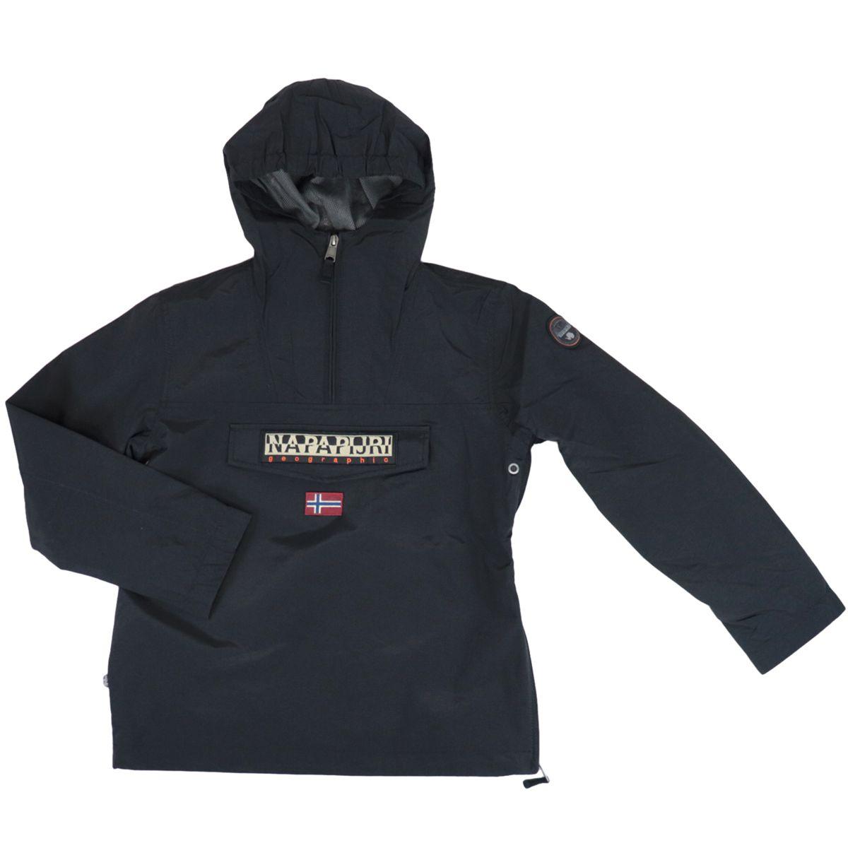 K Rainforest Sum.2 nylon jacket with hood and zip Black NAPAPIJRI