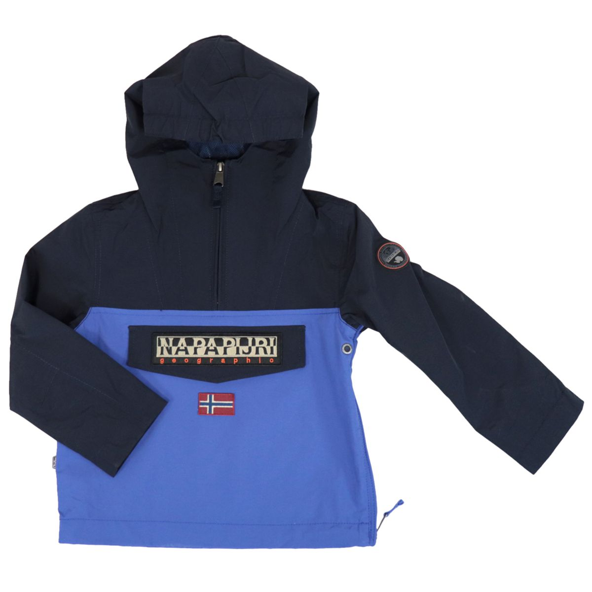 K Rainforest CB nylon jacket with hood and zip Navy NAPAPIJRI