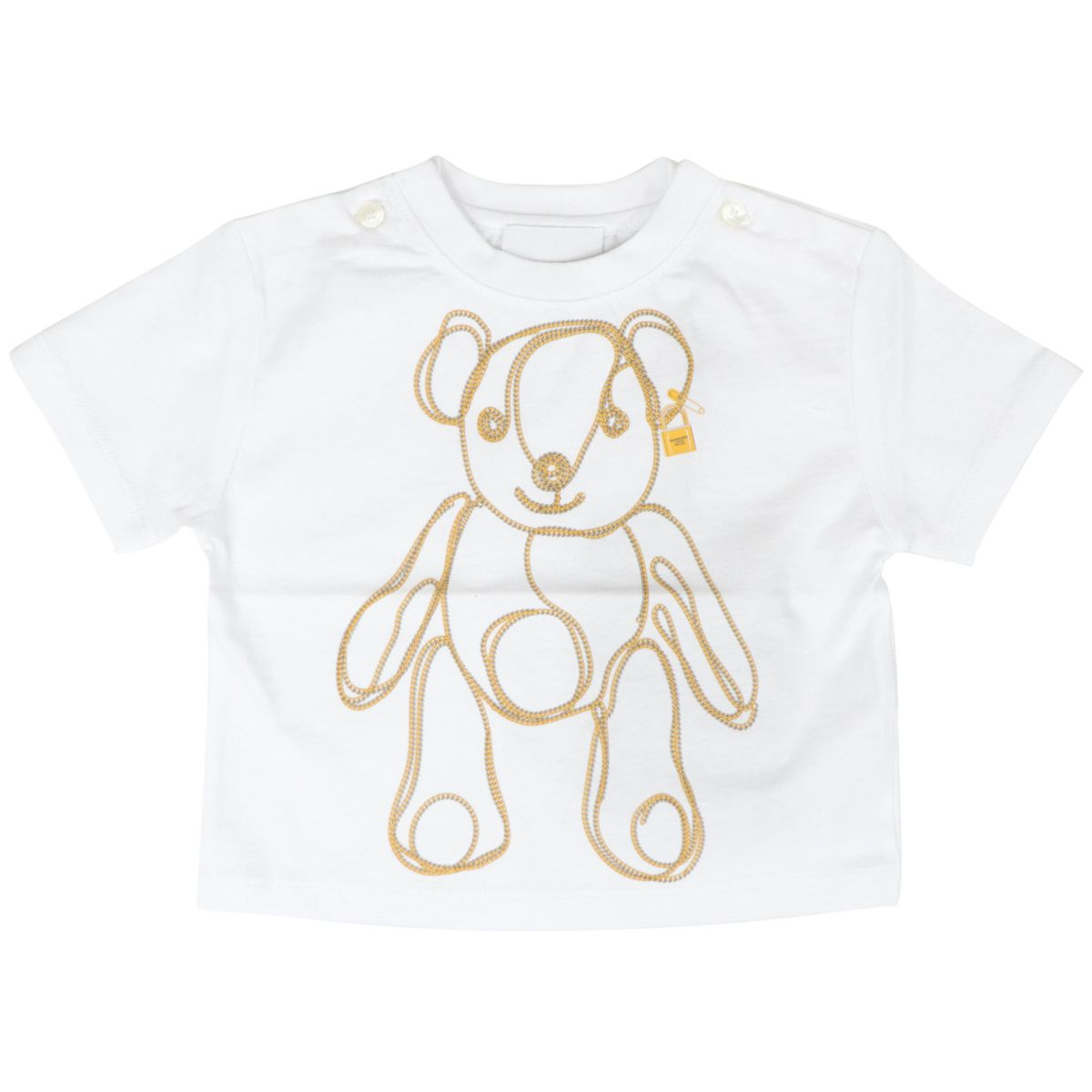 Short-sleeved cotton T-shirt with Bear print White Burberry