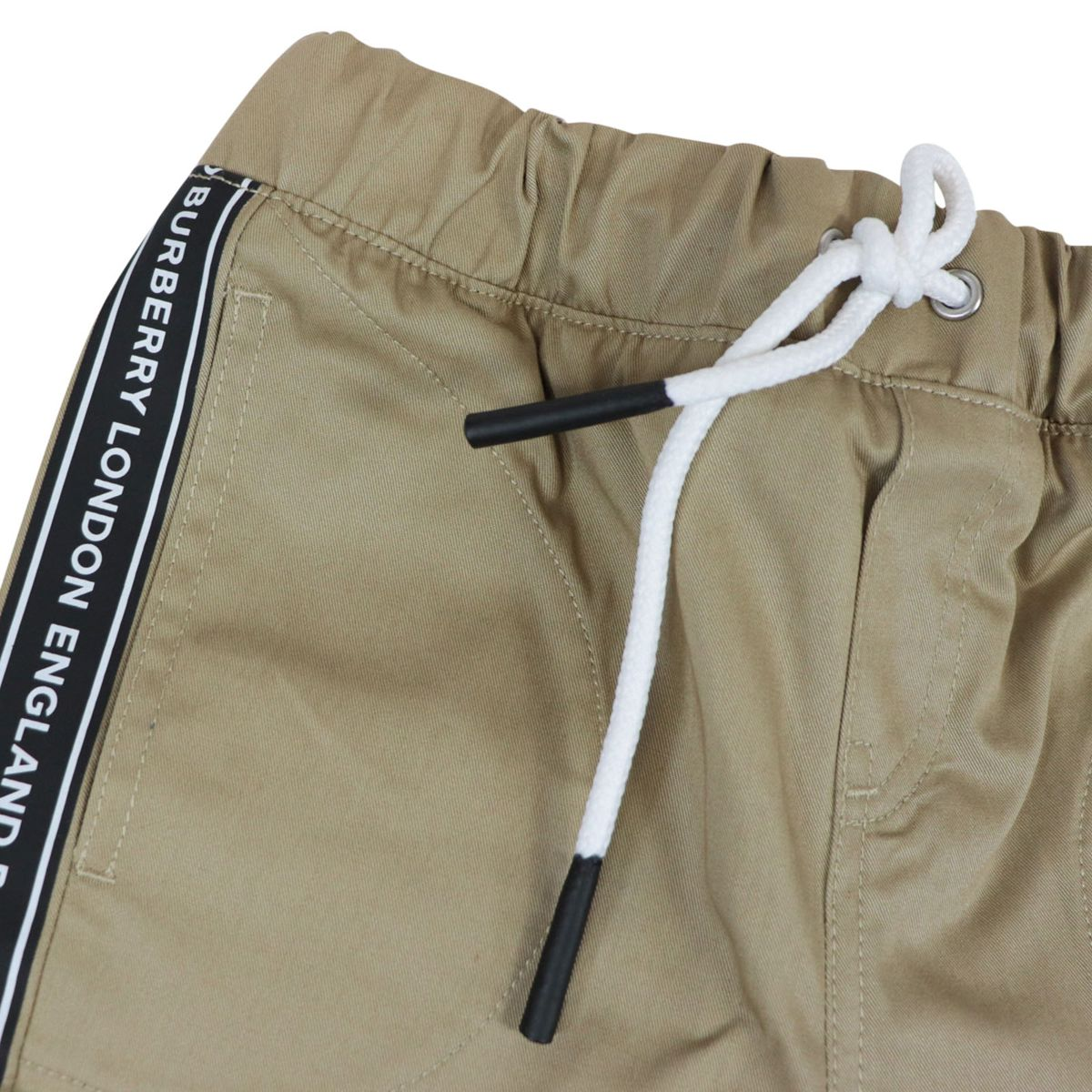 Cotton trousers with logoed side band Honey Burberry