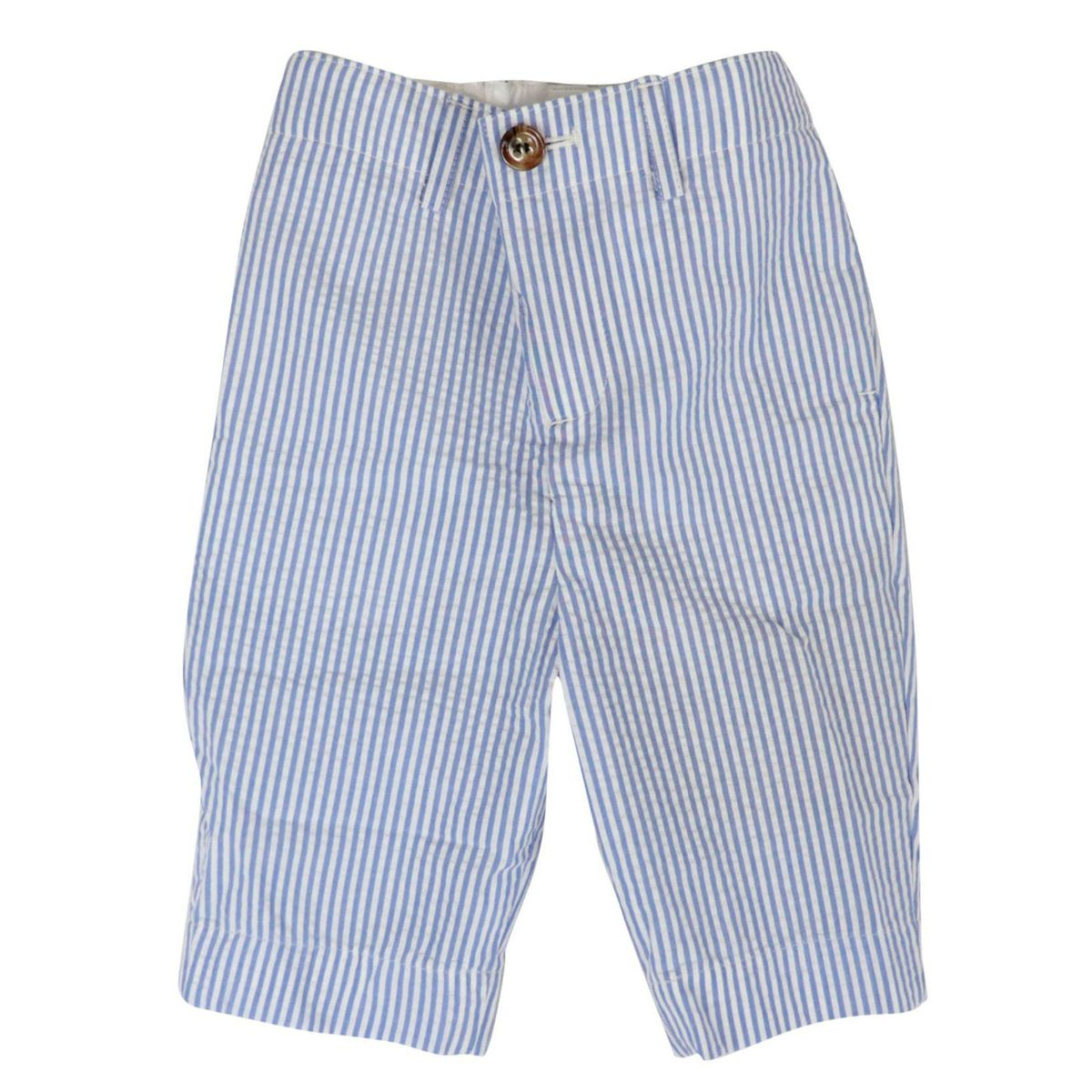Pants with america Manuel pocket in striped cotton Stripes white / blue Burberry