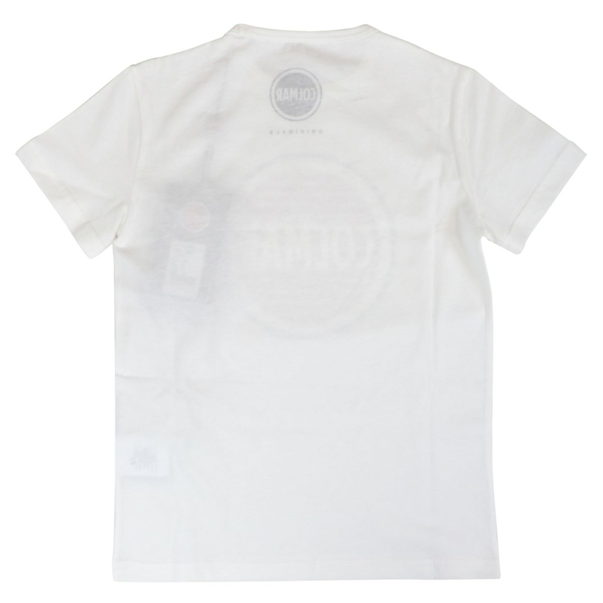 Crew neck t-shirt in cotton jersey with maxi printed logo White Colmar