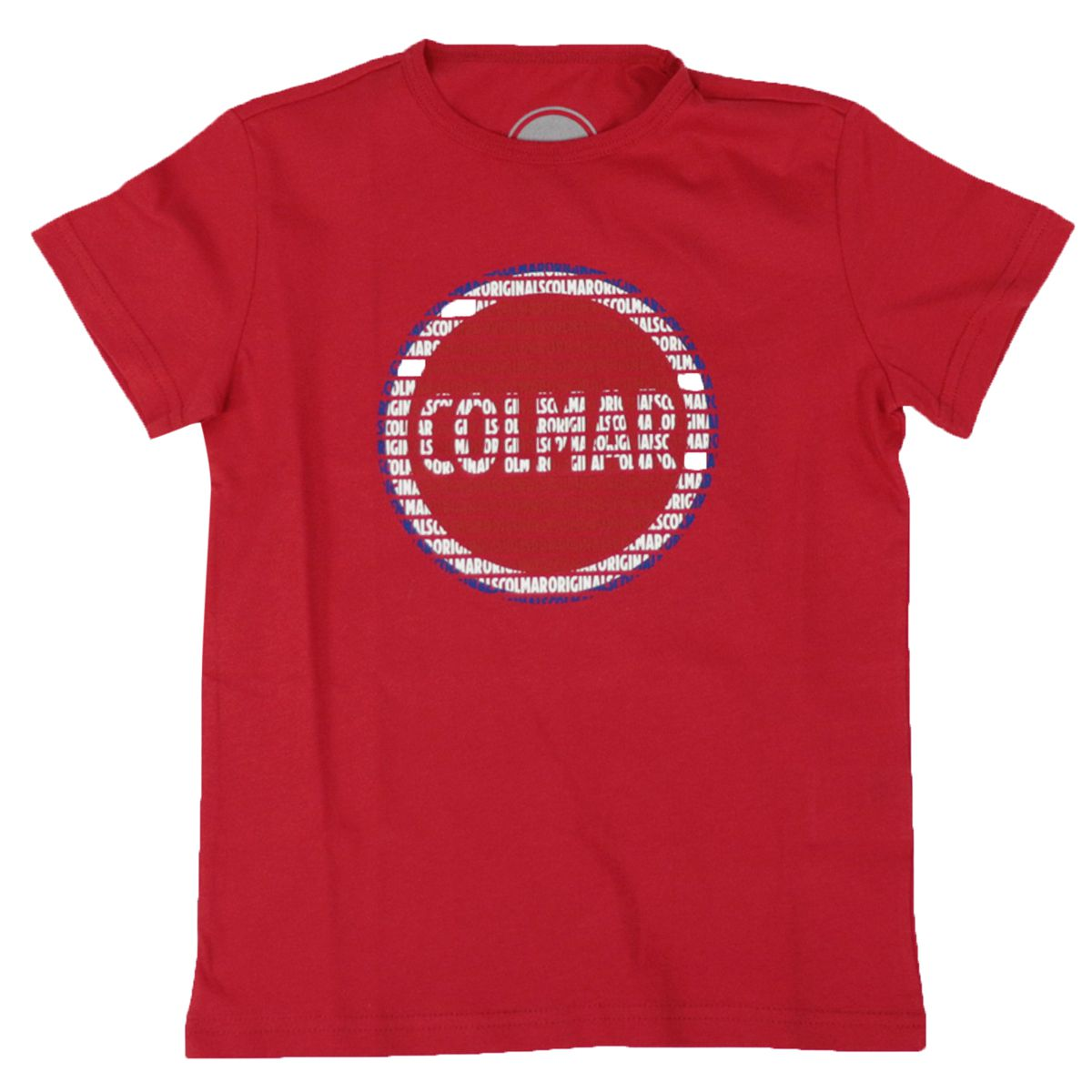 Crew neck t-shirt in cotton jersey with maxi printed logo Red Colmar