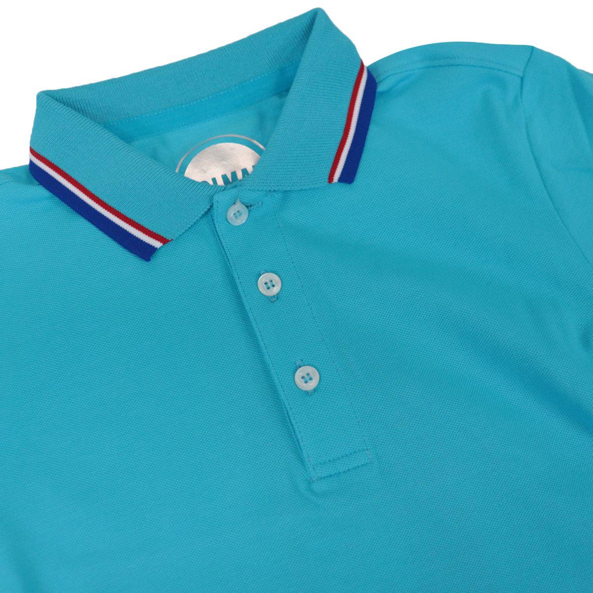 Cotton piqué polo shirt with striped collar Heavenly Colmar