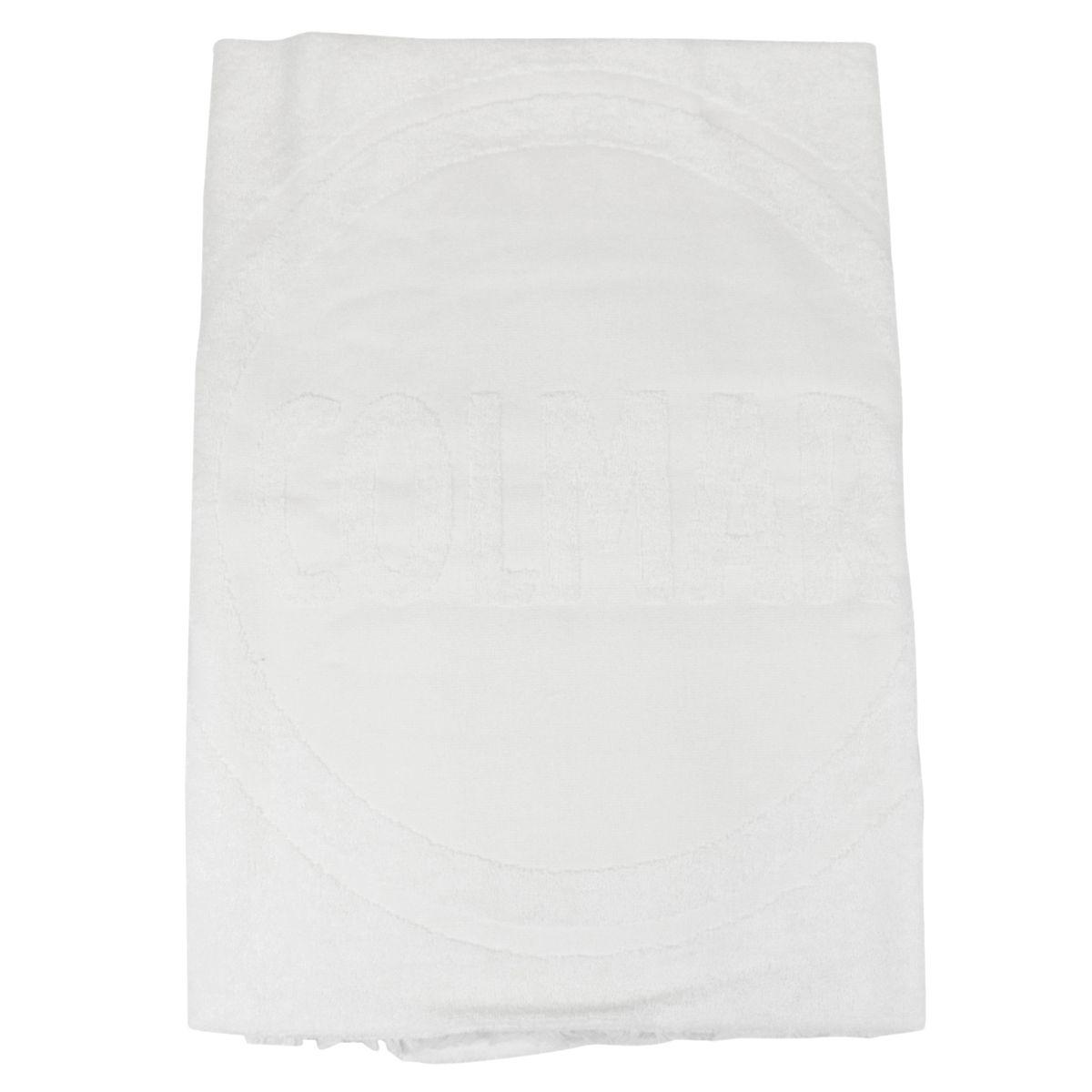 Cotton terry towel with maxi logo White Colmar