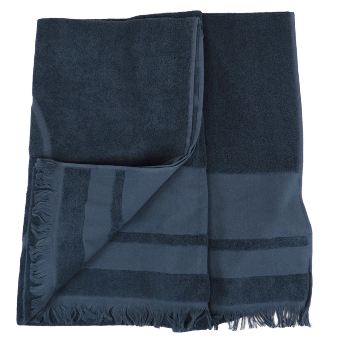 Cotton terry towel with maxi logo Blue Colmar