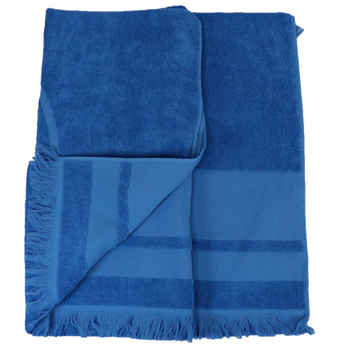 Cotton terry towel with maxi logo Bluette Colmar