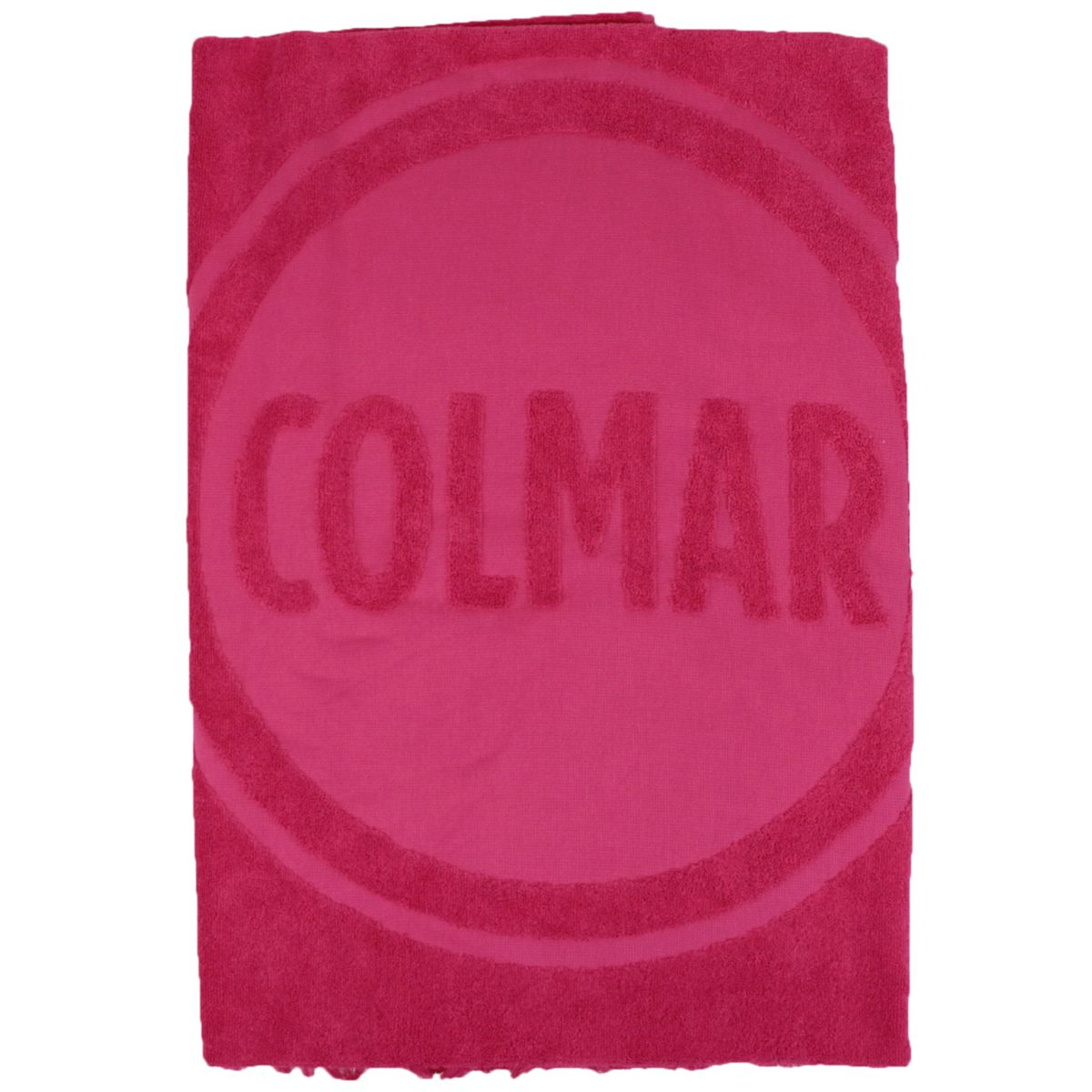 Cotton terry towel with maxi logo Fuchsia Colmar