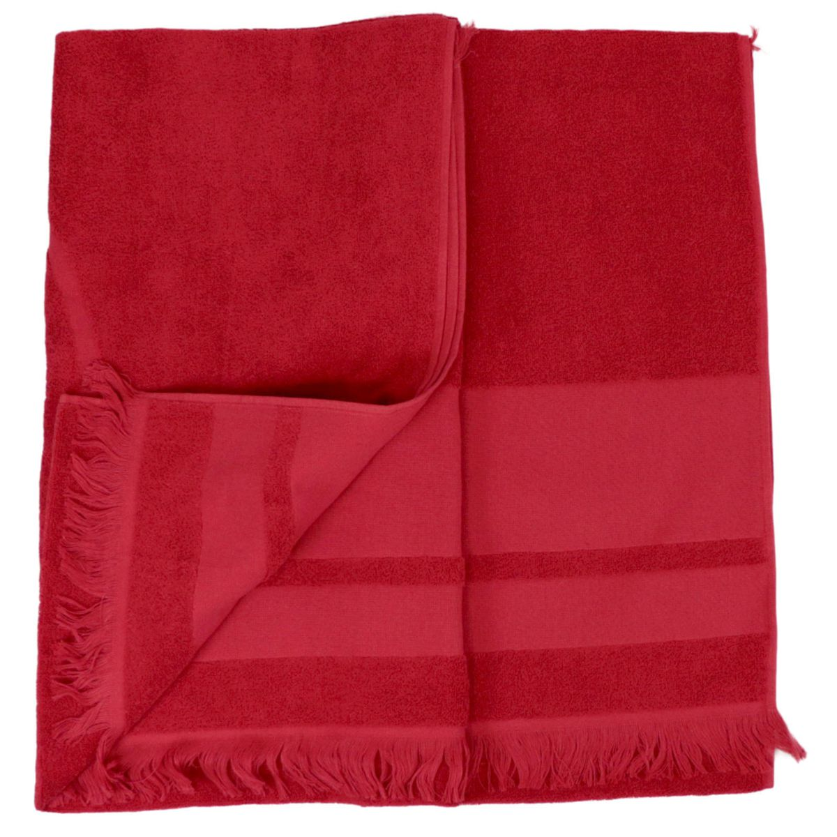 Cotton terry towel with maxi logo Red Colmar