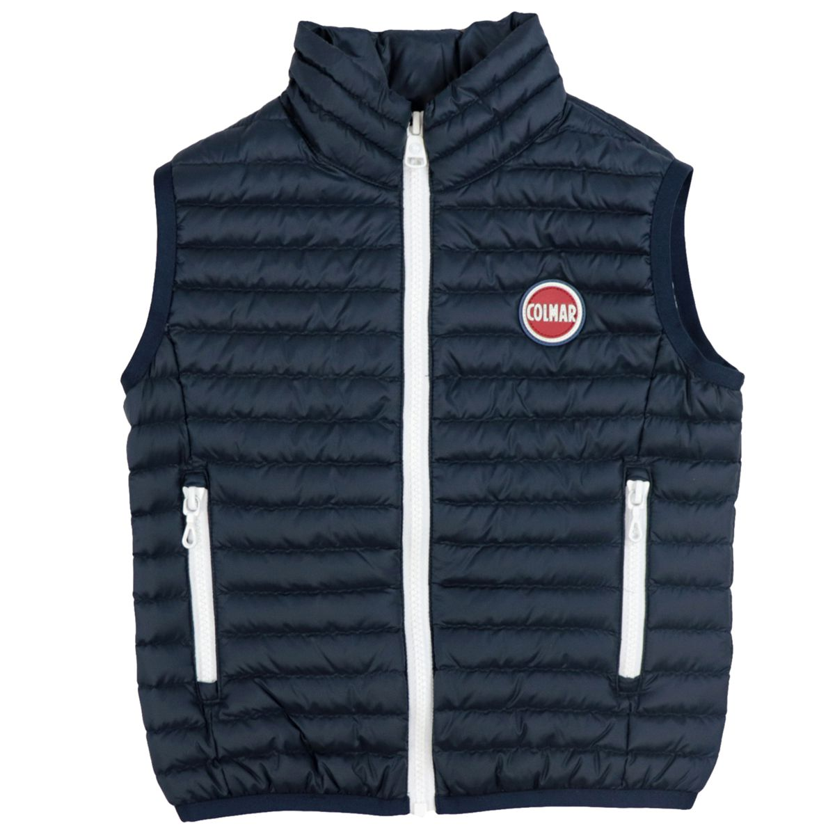 Semi-matt quilted nylon vest with zip Blue Colmar