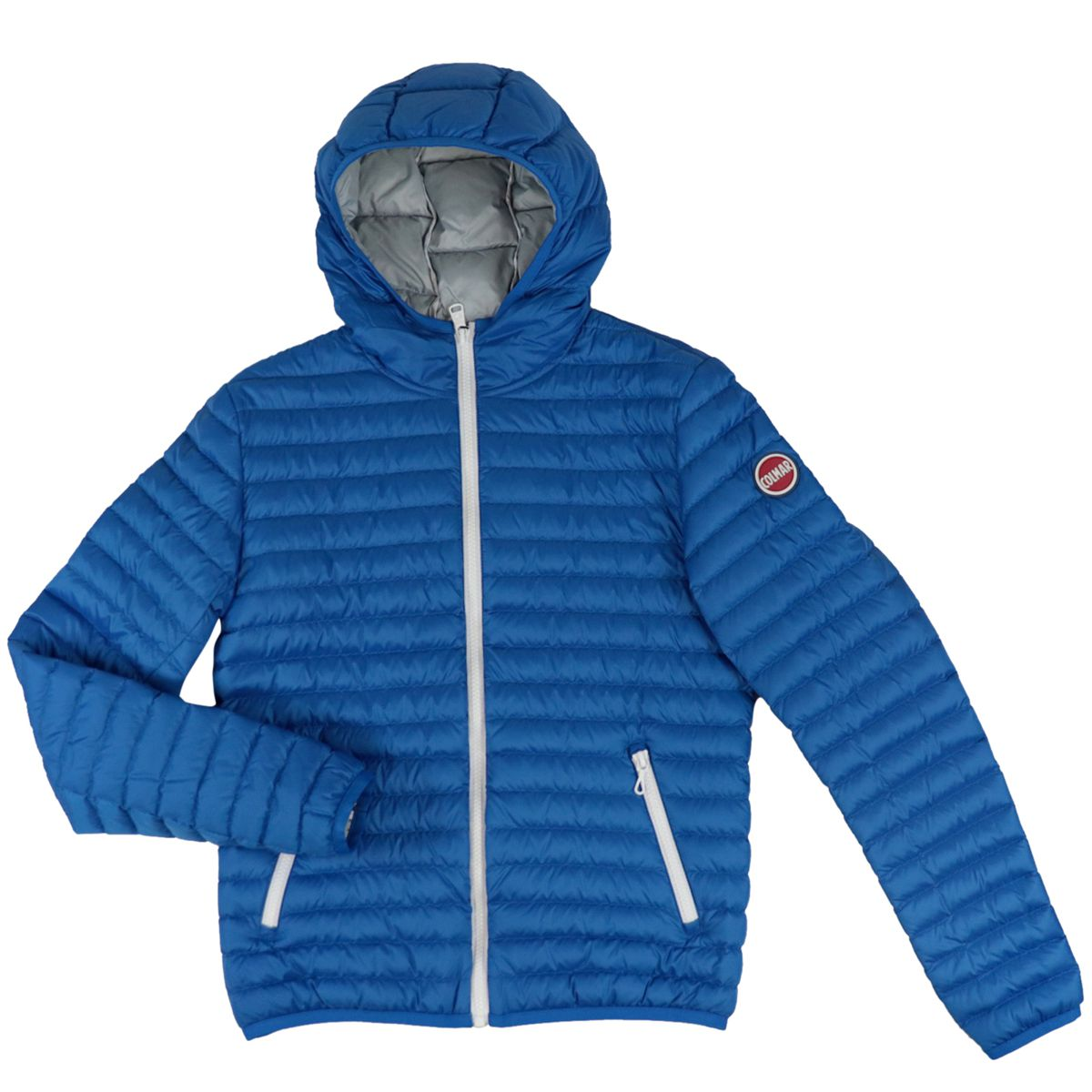 Semi-light quilted nylon down jacket with hood Bluette Colmar