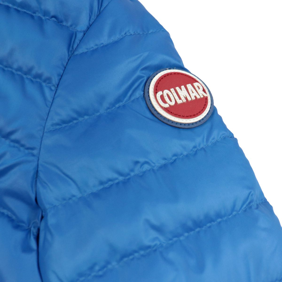 Ultralight semi-opaque nylon down jacket with hood Bluette Colmar