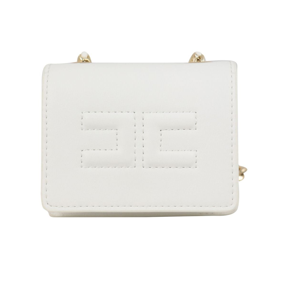 Kangaroo bag in synthetic leather White Elisabetta Franchi