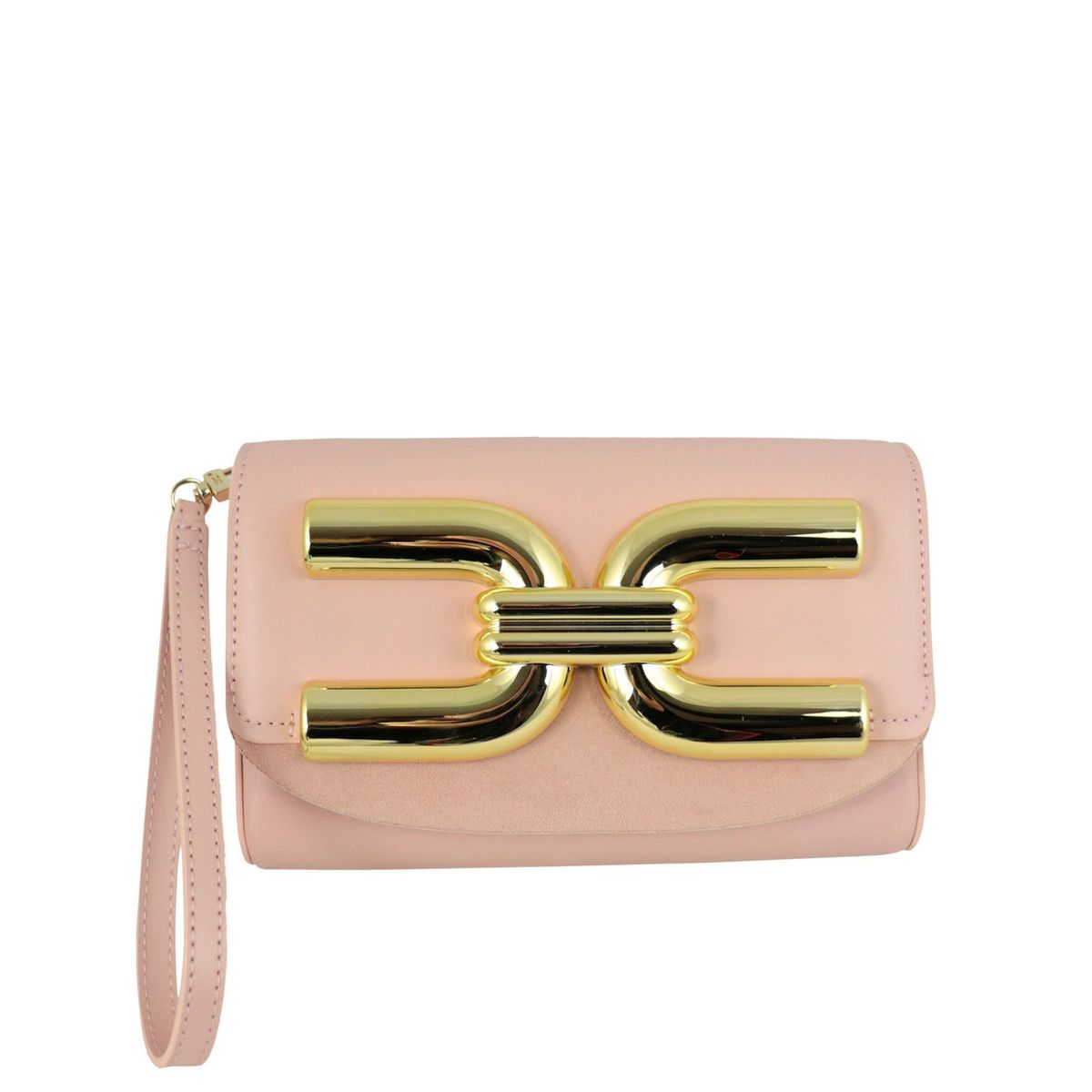 Mini bag with gold logo Antique pink Elisabetta Franchi