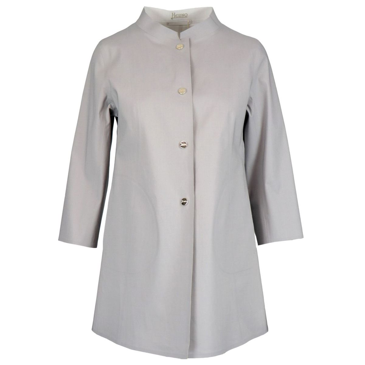 Reversible cotton jacket with three-quarter sleeves Light grey Herno
