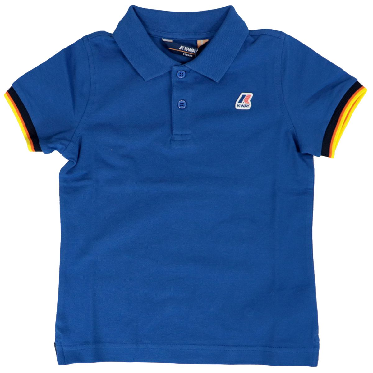 Vincent Contrast polo shirt in stretch cotton pique Royal K-Way