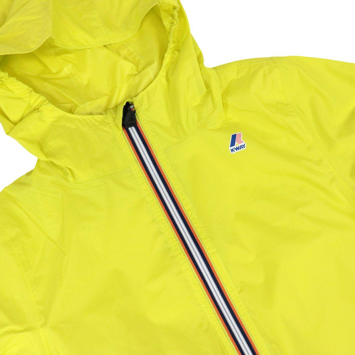 Le Vrai 3.0 Claude nylon jacket with hood Fluo yellow K-Way