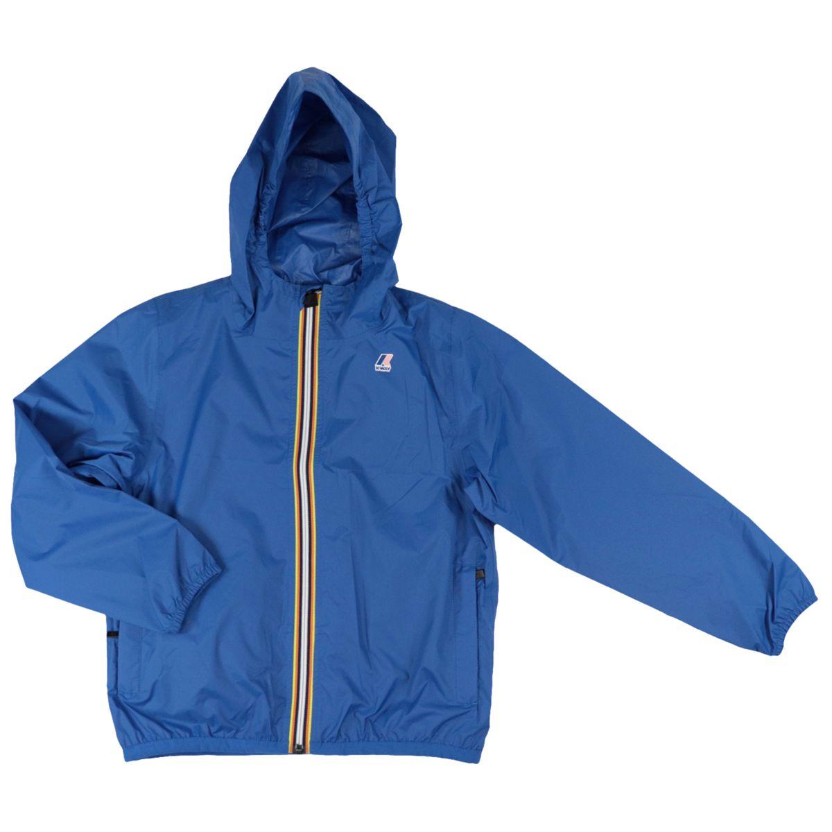 Le Vrai 3.0 Claude nylon jacket with hood Royal K-Way