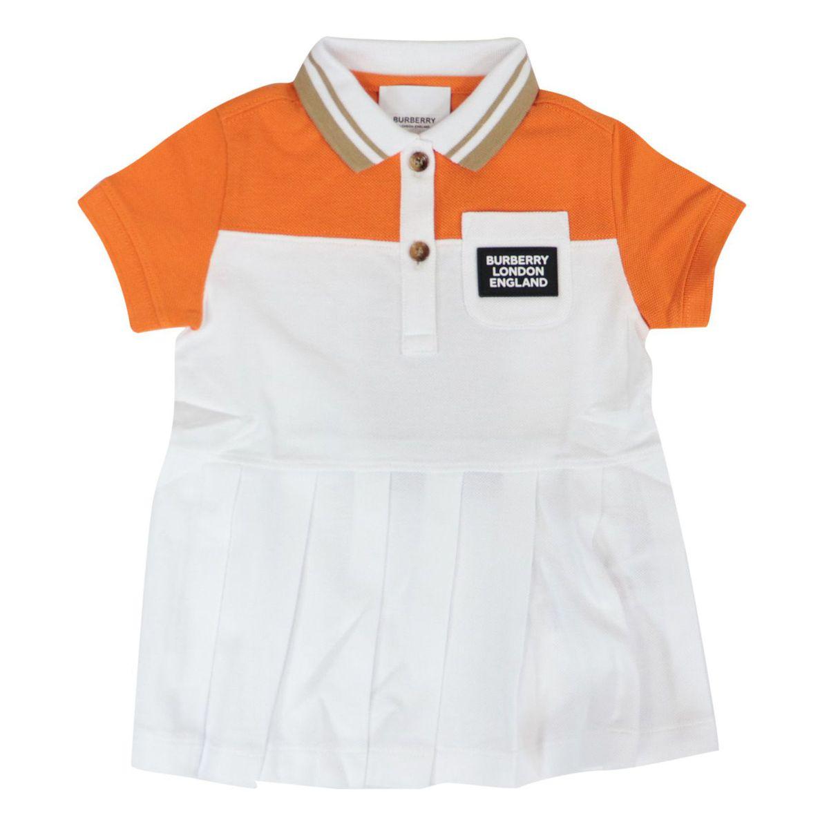 Kayda Polo dress in two-tone cotton pique Bright mandarin Burberry