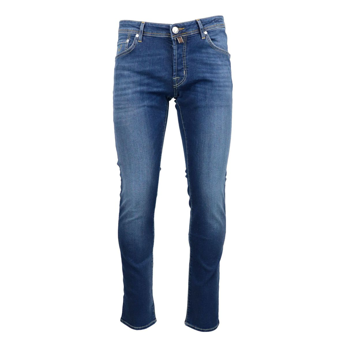 5-pocket jeans in washed-effect stretch denim Denim Jacob Cohen