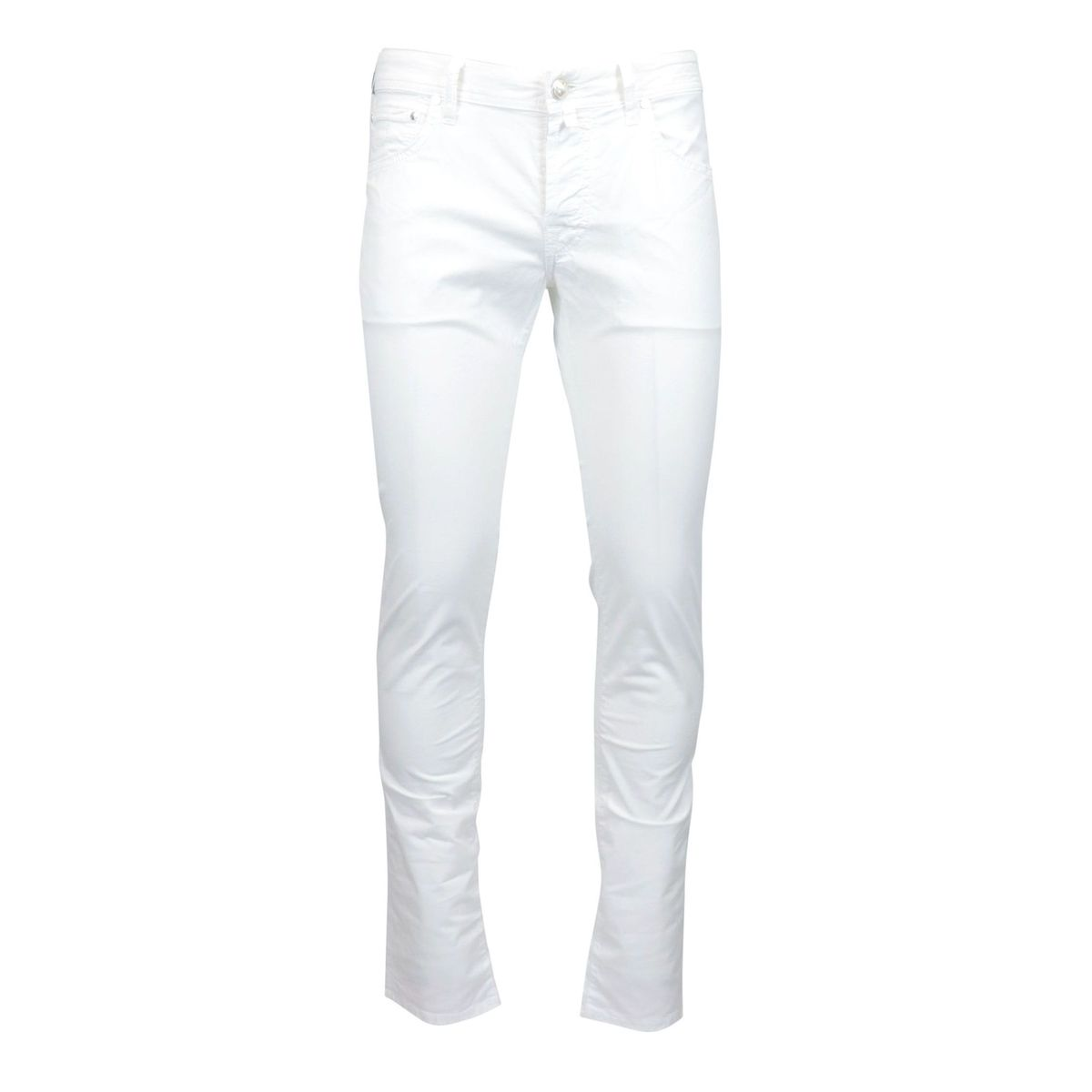 Slim trousers with 5 pockets in stretch cotton White Jacob Cohen