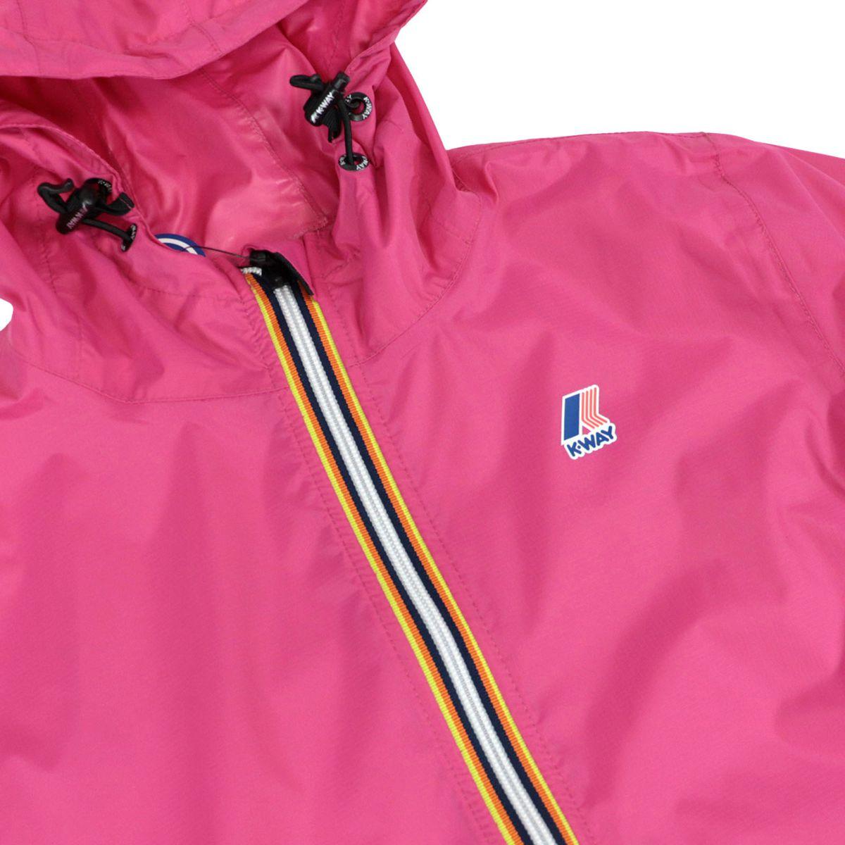 Le Vrai 3.0 Claudette nylon jacket with hood Fuchsia K-Way
