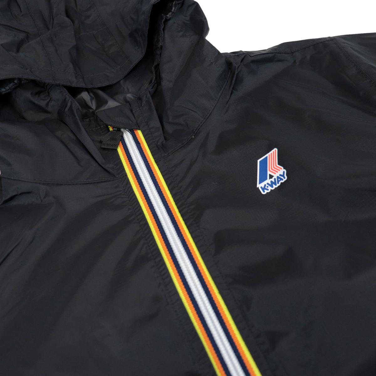 Le Vrai 3.0 Claudette nylon jacket with hood Black K-Way