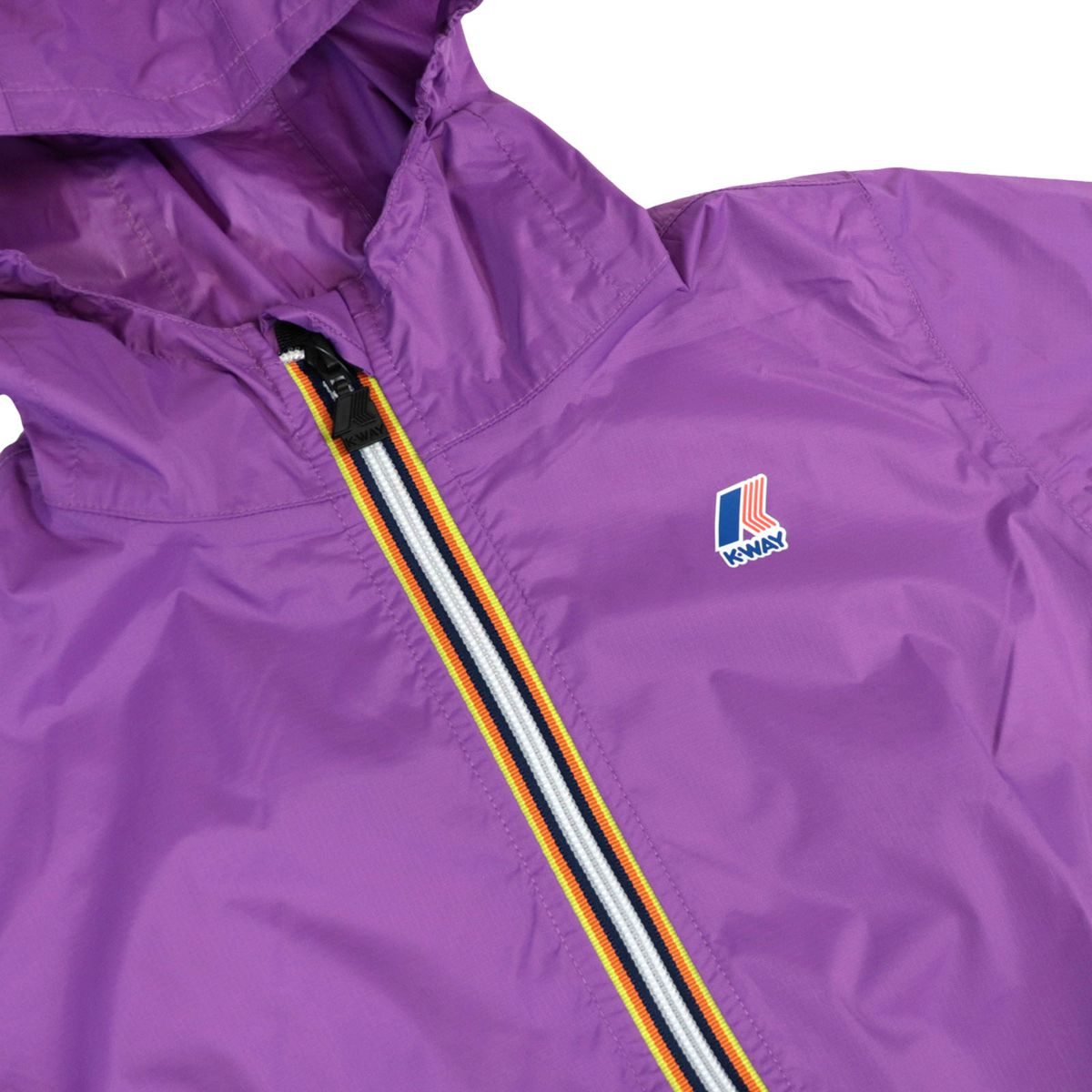Le Vrai 3.0 Claudette nylon jacket with hood Violet K-Way