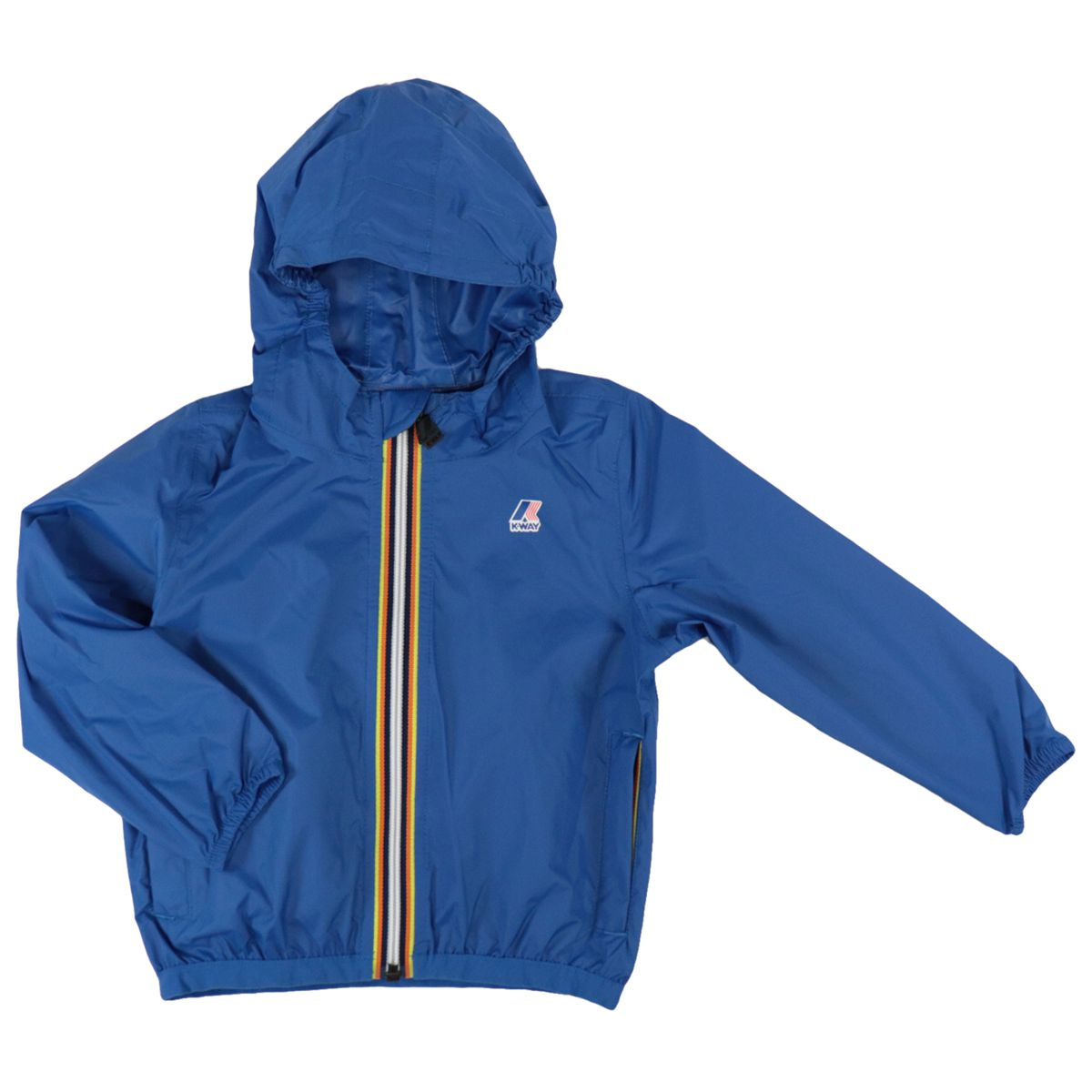 Le Vrai 3.0 Claudine nylon jacket with hood and zip Royal K-Way