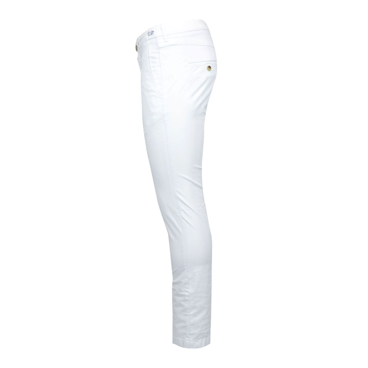 Slim trousers with america pocket in stretch cotton White Jacob Cohen