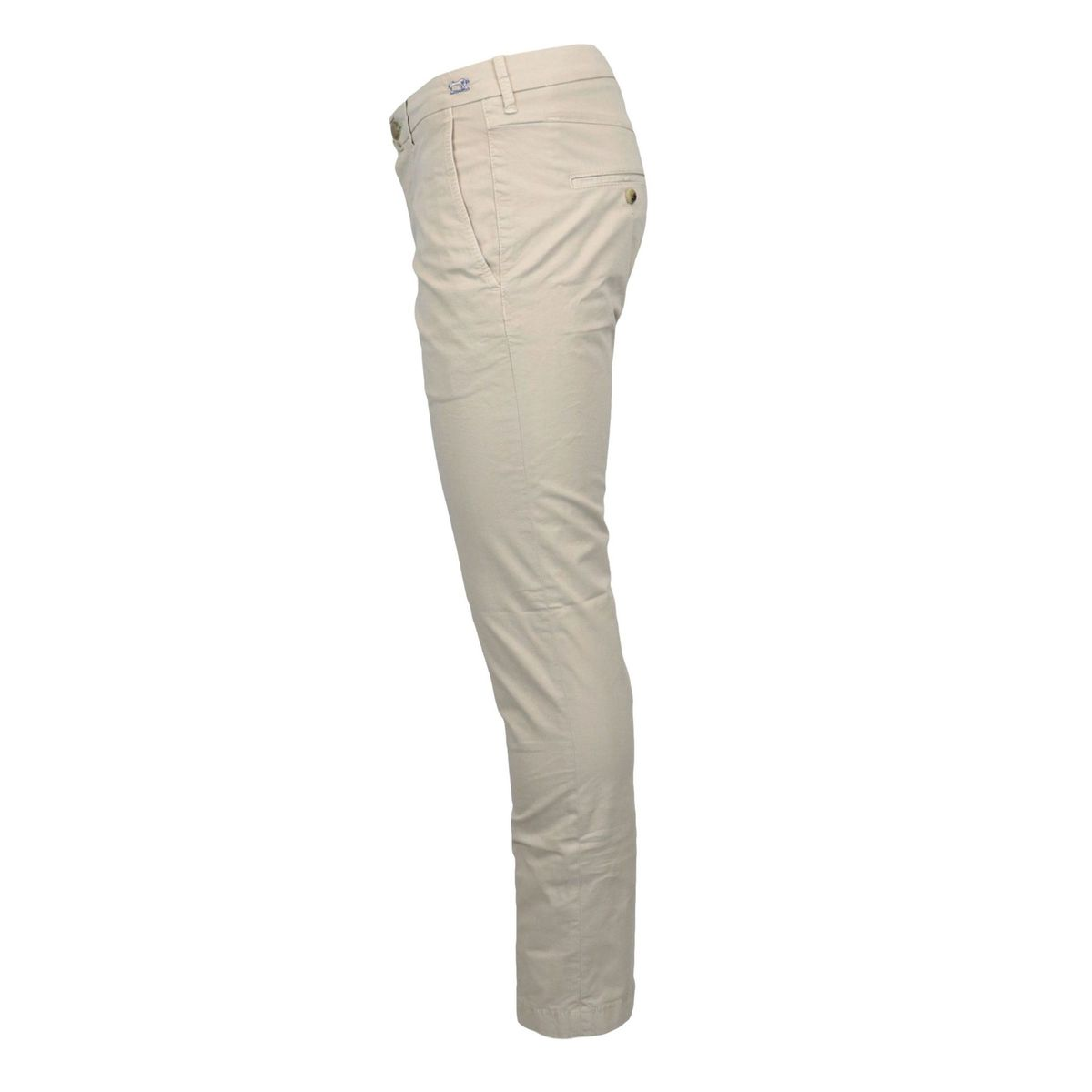 Slim trousers with america pocket in stretch cotton Ecru Jacob Cohen