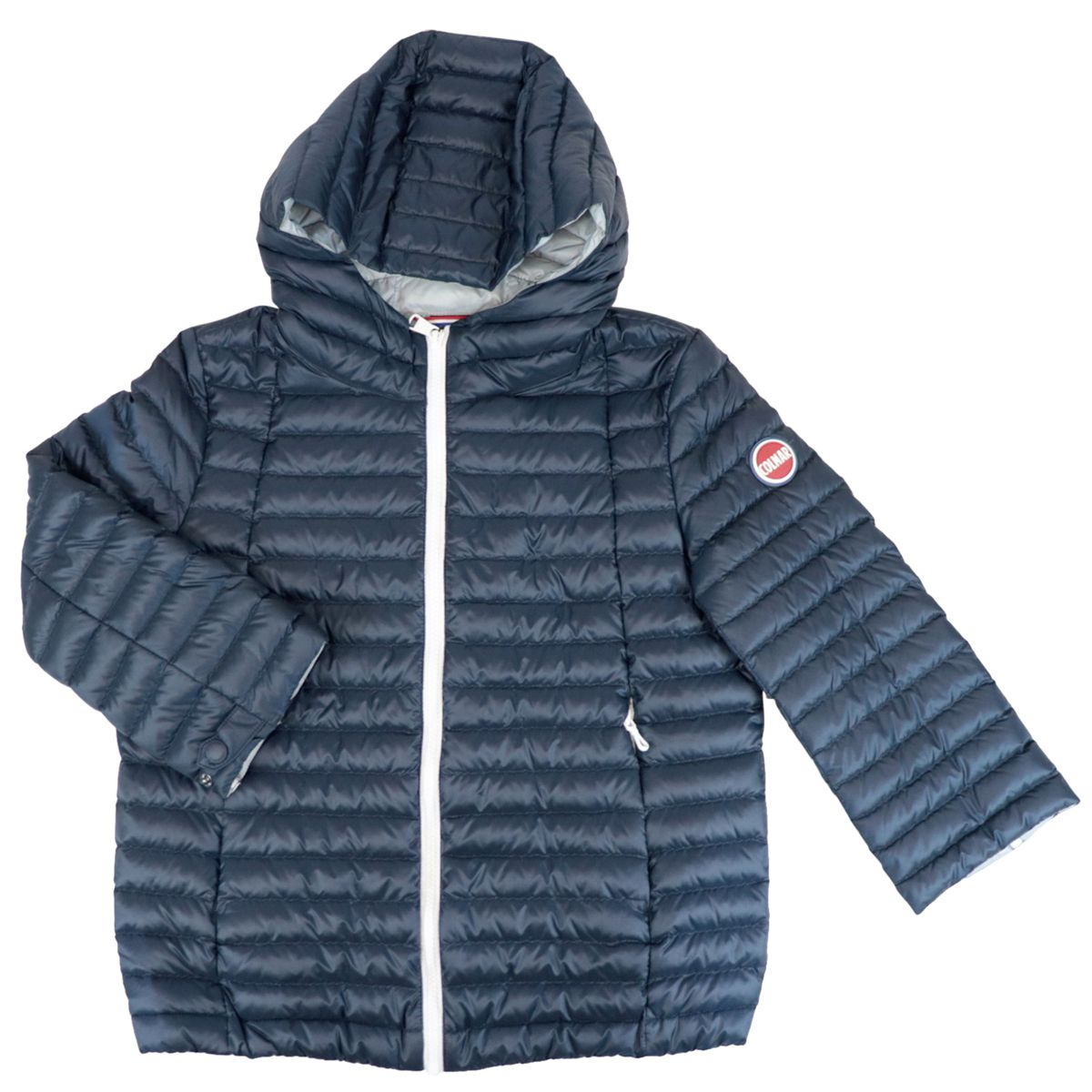 Nylon down jacket with hood and zip Blue Colmar