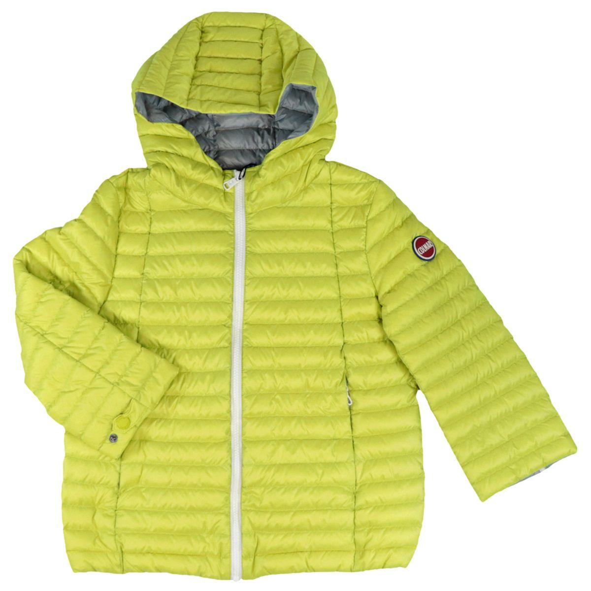 Nylon down jacket with hood and zip Yellow Colmar
