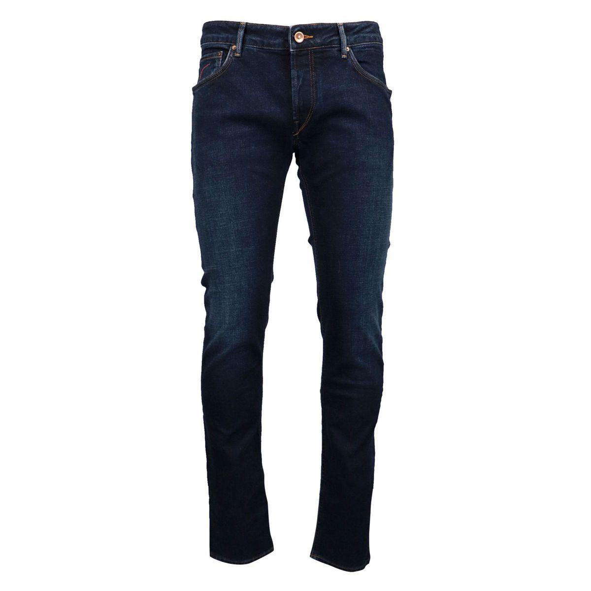 Orvieto jeans in dark denim stretch slim fit Dark denim Hand Picked